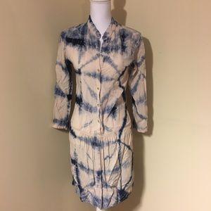 Anthropologie the Odell's long sleeve tiedye dress